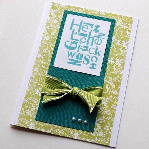 Glückwunsch in Grün