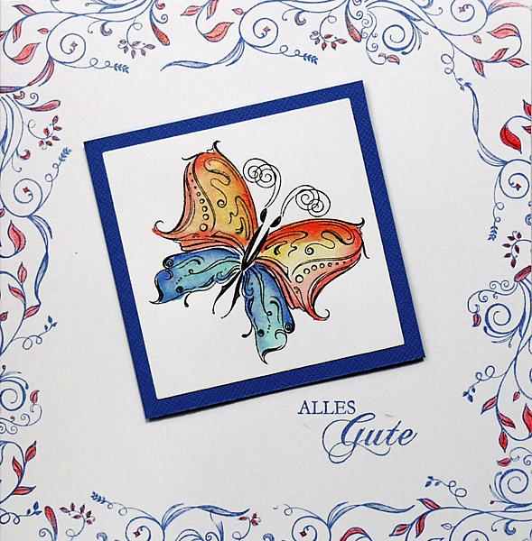 Colorierter Schmetterling