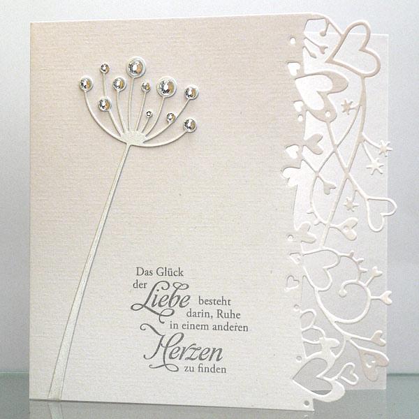 Hochzeitskarte mit Chloe Stem