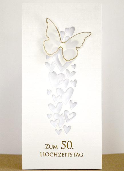 Fliegende Herzen zur Goldenen Hochzeit