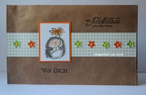 Schokoladen Geschenkumschlag