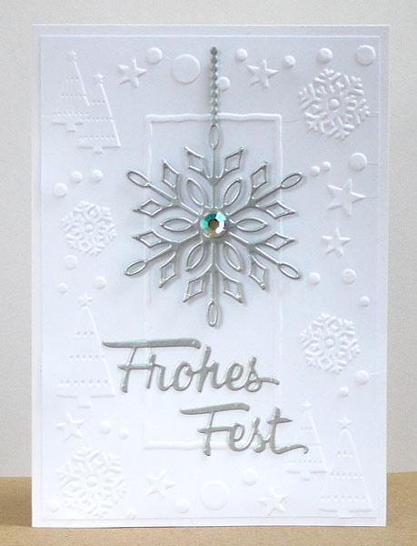 Neue Karten-Kunst-Stanze: Frohes Fest