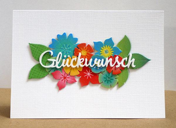 Neue Karten-Kunst-Stanze: Glückwunsch