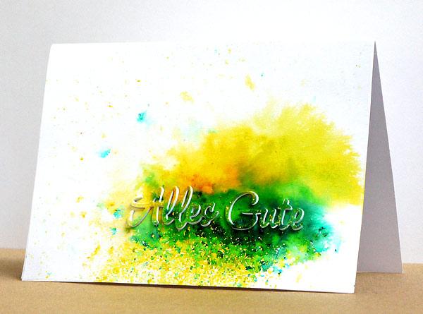Neue Karten-Kunst-Stanze: Alles Gute
