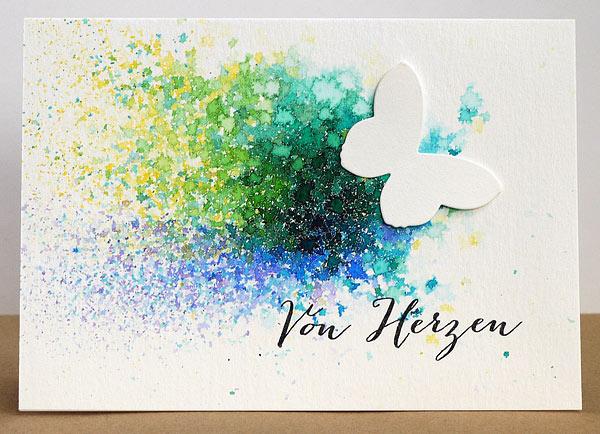 Neuer Karten-Kunst-Stempel: Von Herzen