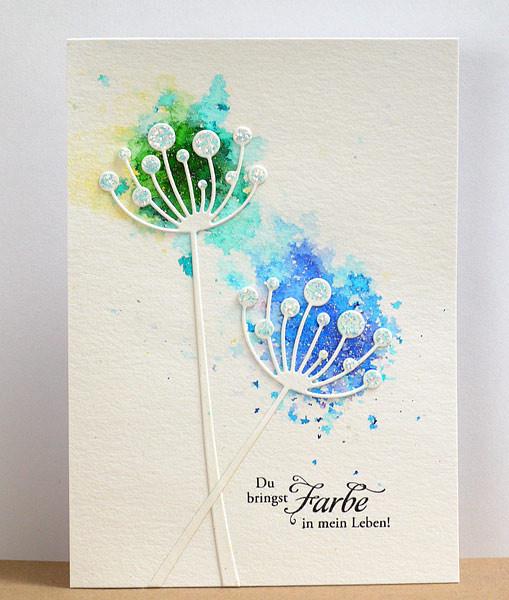 Brusho Farb-Pigmente bei Karten-Kunst