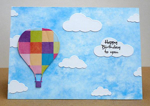 Glückwünsche aus dem Heißluftballon