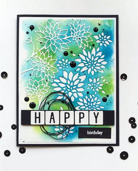 Karte von Memory Box: Chrysanthemum Collage