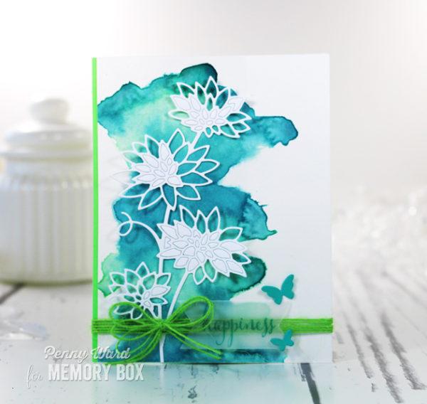 Karte von Memory Box: Blooming Chrysanthemum