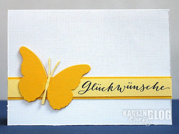 Schmetterlings-Glückwunsch
