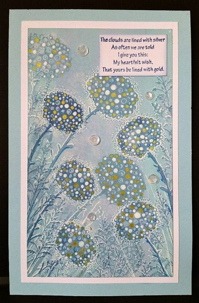 Karte von Lavinia Stamps: Glow Flowers