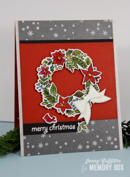 Karte von Memory Box: Christmas Botanicals