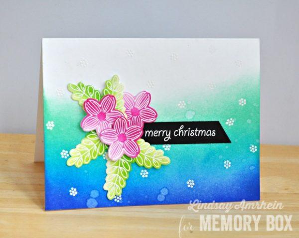 Karte von Memory Box: Bunte Weihnachten