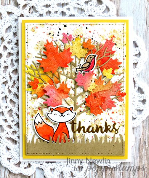 Karte von Poppy Stamps: Fall Thanks