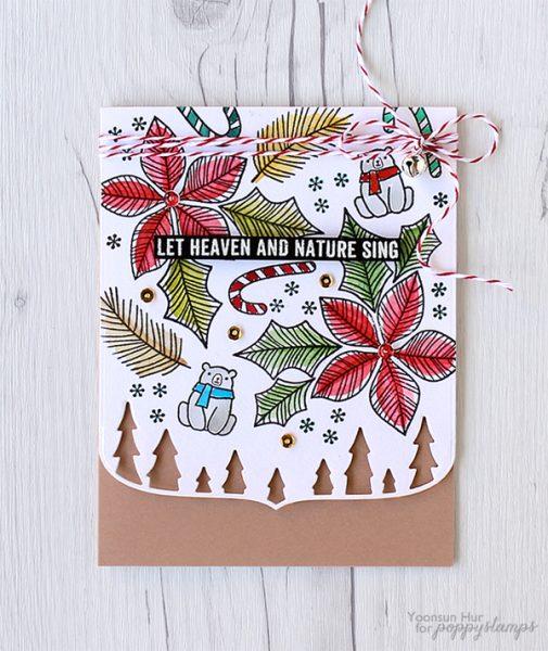 Karte von Poppy Stamps: Cheerful Christmas Card