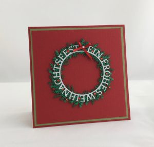 Weihnachtskarte - klassischer Kranz