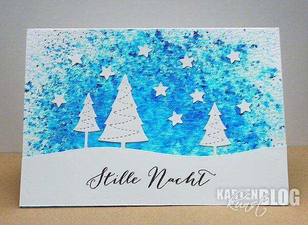 Stille Nacht 2 - selbstgemachte Weihnachtskarte