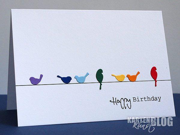 Schlichte Geburtstagskarte For the Birds