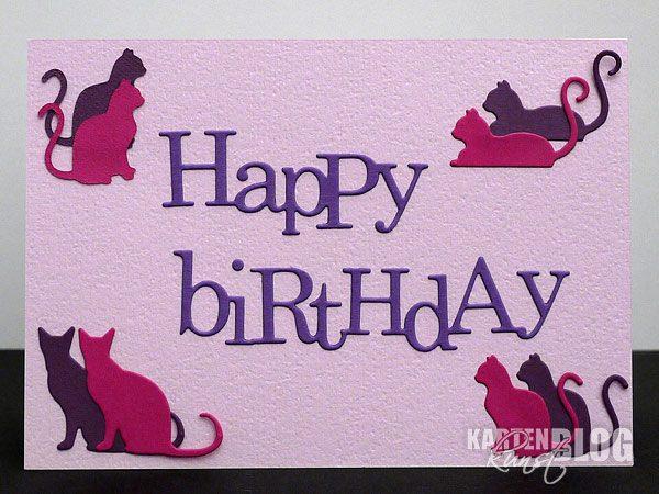 Rosa Katzen-Geburtstagskarte
