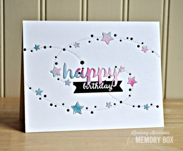 Karte von Memory Box:  Sterne zum Geburtstag