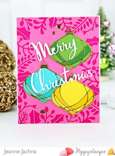 Bunte Weihnachts-Karte von Poppy Stamps