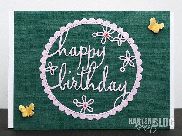 Happy Birthday im Kreis