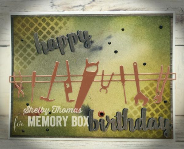 Karte von Memory Box: Masculine Happy Birthday