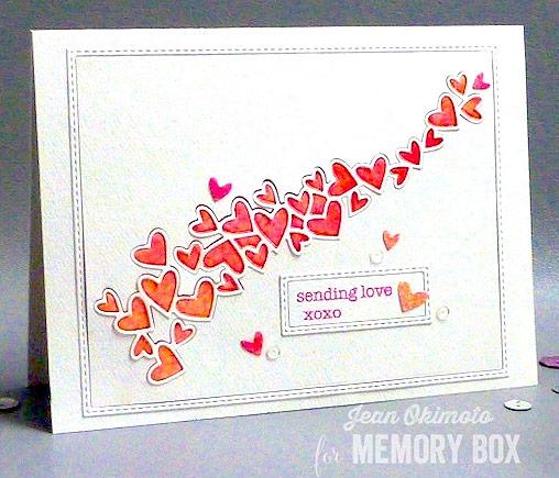 Karte von Memory Box: Heart Wave