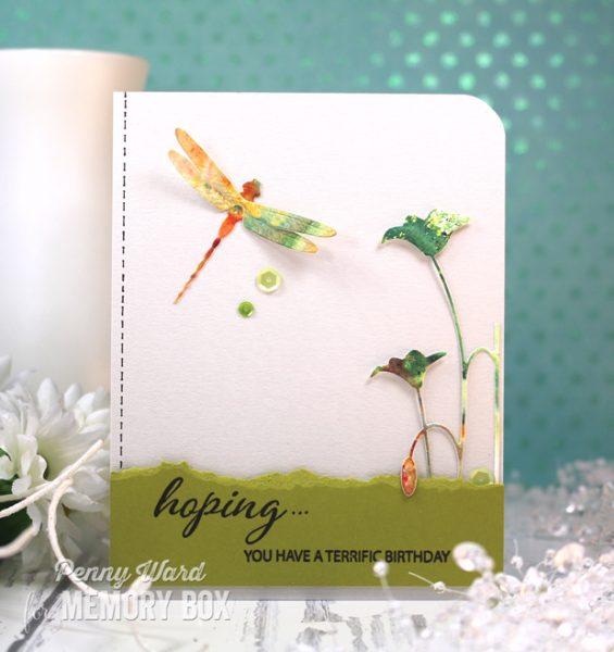 Karte von Memory Box: Dazzling Dragonfly