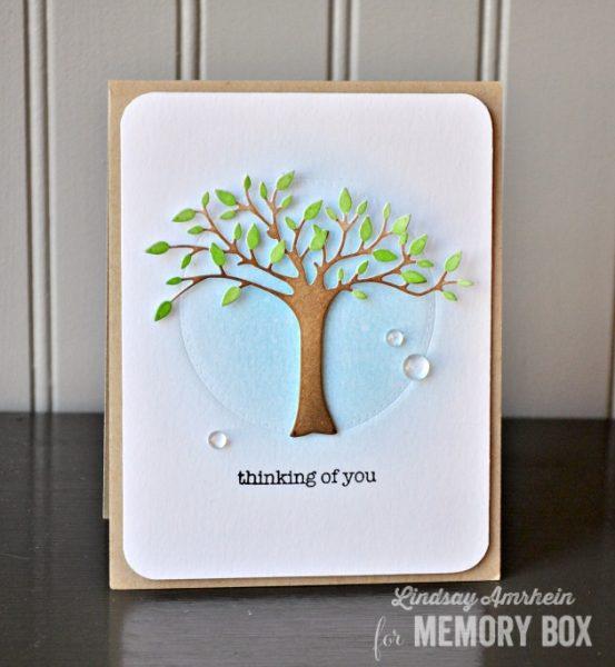 Karte von Memory Box: Thinking of You