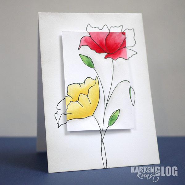 Schlichte Blume im Spotlight
