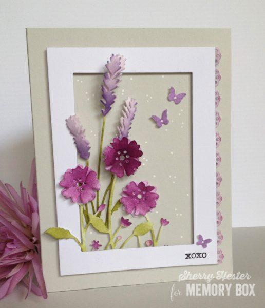 Karte von Memory Box: Lavender Kisses