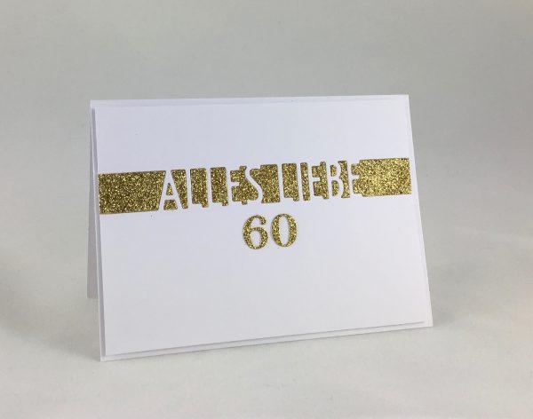 Glückwunsch mit Goldglitzer