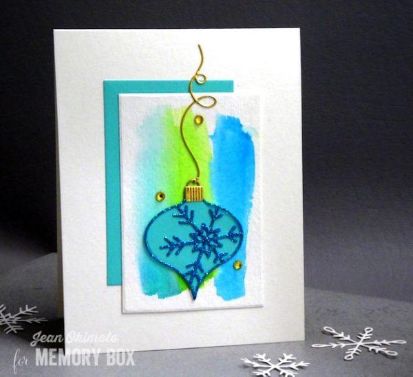 Karte von Memory Box: Glittered New Piccolo Snowflake Ornament