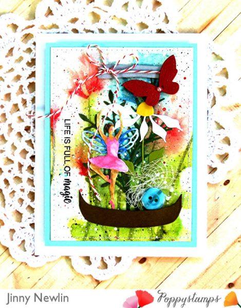 Karte von Poppy Stamps: Life Is Full of Magic