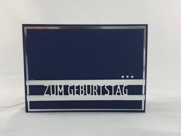 Geburtstagskarte mit Brückentext - männergeeignet
