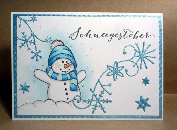 Frosty im Schneegestöber