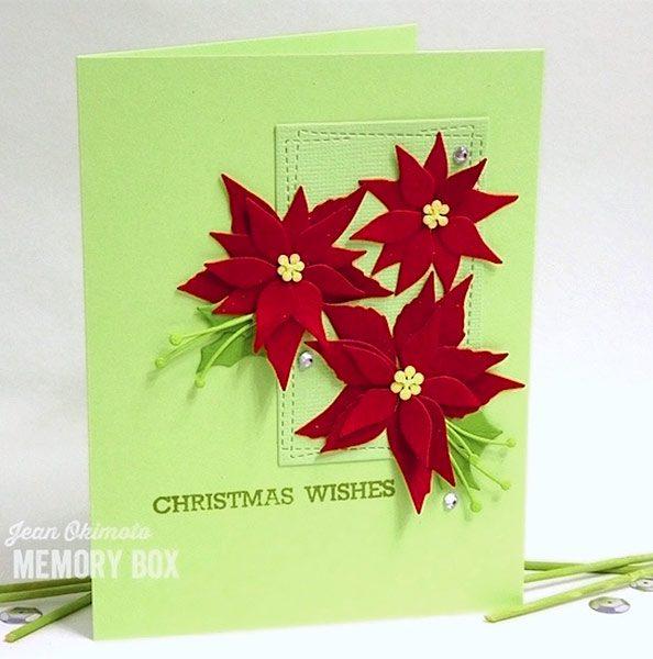 Karte von Memory Box: Poinsettia Blooms