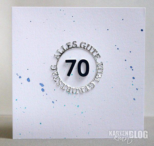 Moderne Karte zum 70. Geburtstag