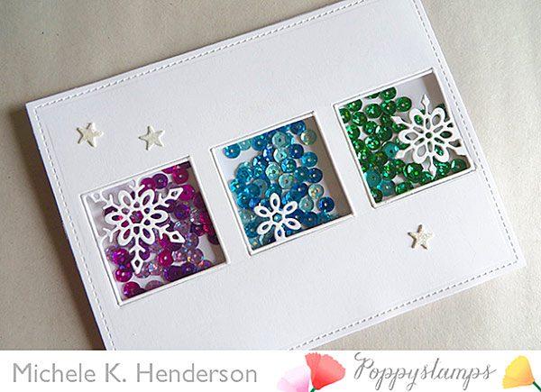 Karte von Poppy Stamps: Snow Day Schüttelkarte
