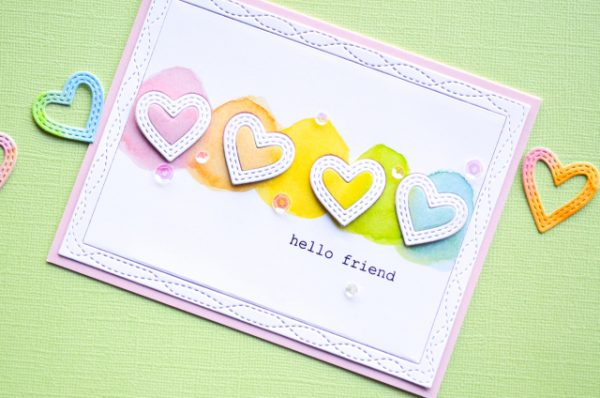 Karte von Memory Box: Rainbow Valentine