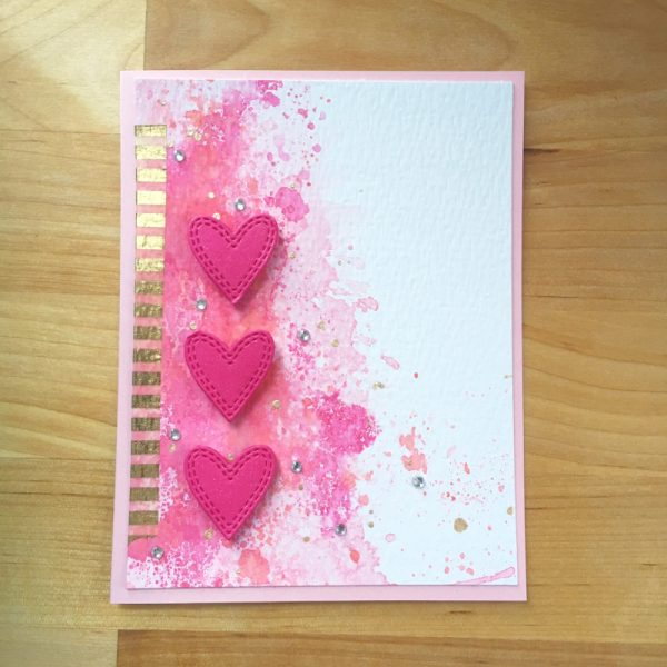 Karte von Memory Box: Double Stitched Hearts