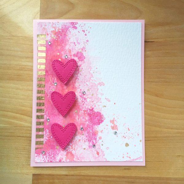Karte von Memory Box: Double Stitched Hearts