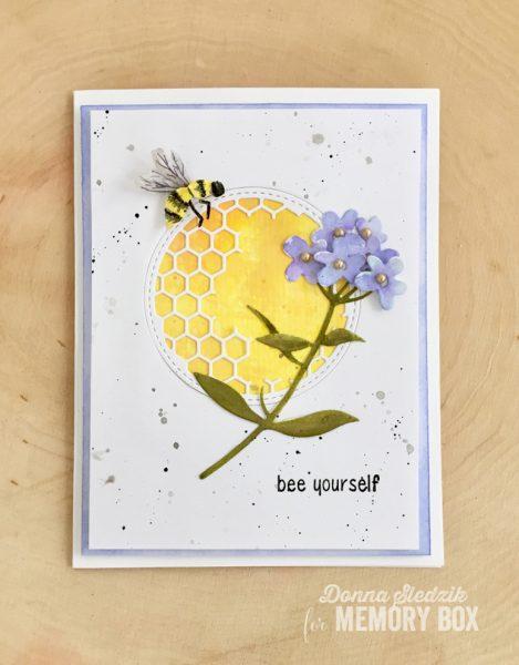 Karte von Memory Box: Bee Yourself