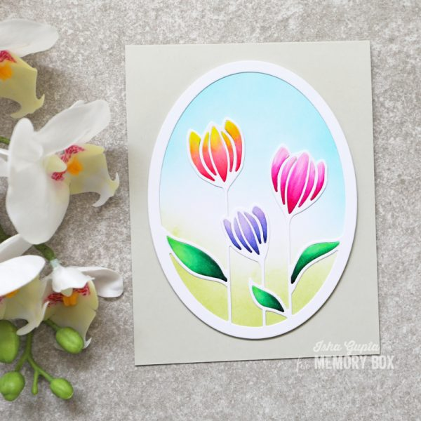 Karte von Memory Box: Spring Tulips Card
