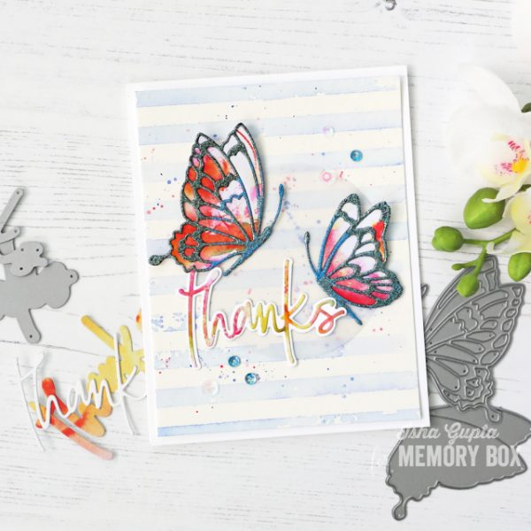 Karte von Memory Box: Thanks Card