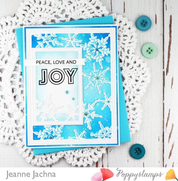 Karte von Poppy Stamps: Pinpoint Snowflake Frame