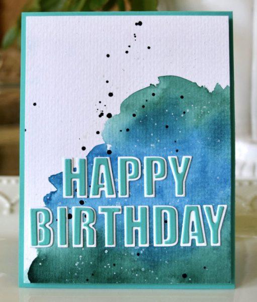 Karte von Poppy Stamps: Happy Birthday