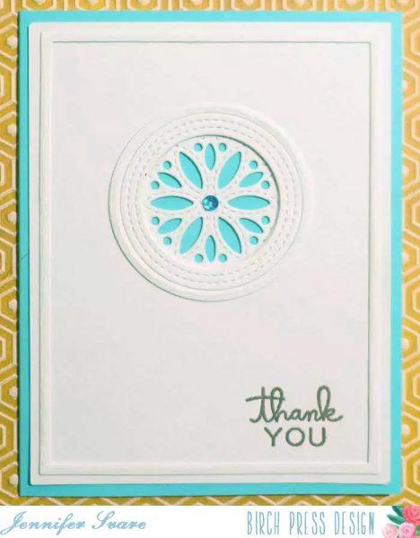 Karte von Birch Press: Fiori Thank You Card