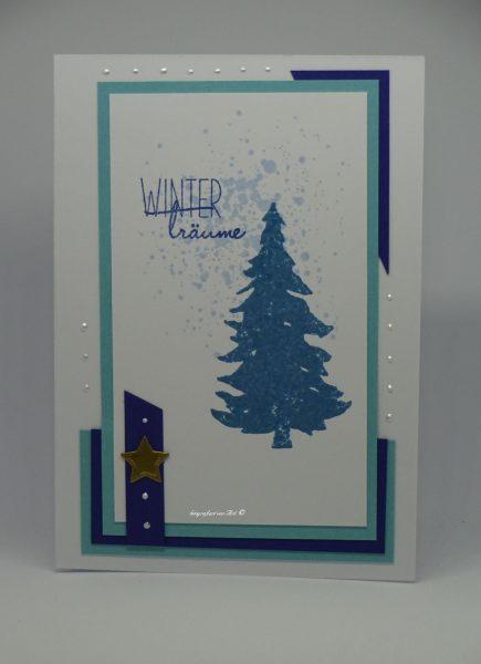 Weihnachtskarte blau